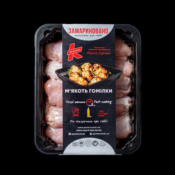 Купити м'якоть гомілки — замаринована оптом, Пан Курчак лоток, chickenpackaging