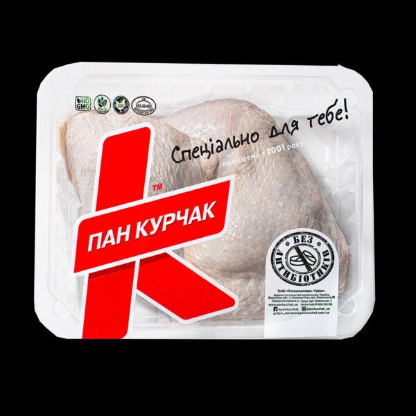 Купити четвертинка (задня) куряча охолоджене фасована оптом, Пан Курчак лоток, chickenpackaging
