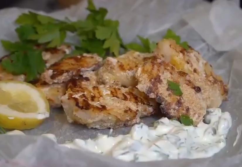 Курячі стріпси у паніровці з соусом тар-тар