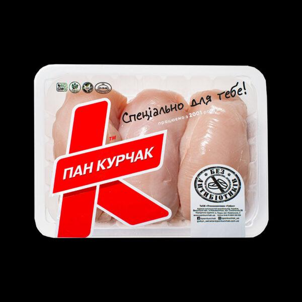 Купити філе клас А курчати-бройлера охолоджене фасоване оптом, Пан Курчак лоток, chicken packaging